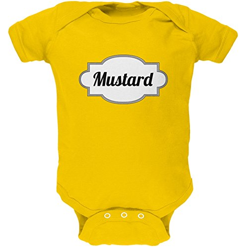 Halloween Mustard Costume Yellow Soft Baby One Piece - 3-6 months by Old Glory