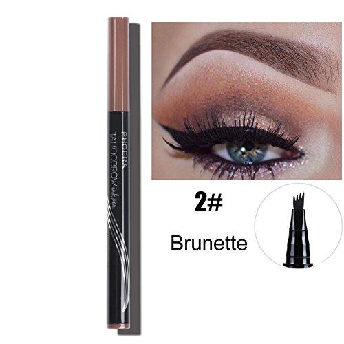 Ochine Eyebrow Pencil Waterproof Fork tip Eyebrow Tattoo Pen Fine Sketch Liquid Henna Eyebrow Enhancer Dye Tint Pen