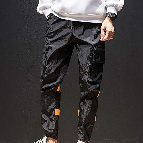 Logobeing Multibolsillos De Hombre Hombre Jogging Chandal Secado Polyeste Montar Pantalones Caballo Deporte Trabajo Negro Total Pantalones Pantalones de a rqn8xc0r