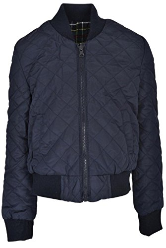 Therapy Fashion Girls Midweight Polyfill Quilted Bomber (Reversible Jacket to Yarn Dye (Girls Quilted Bomber Jacket)