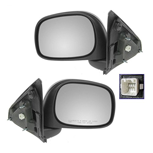 Power Heated Side View Mirrors Left & Right Pair Set of 2 for Ram Pickup Truck Power Mirror Set