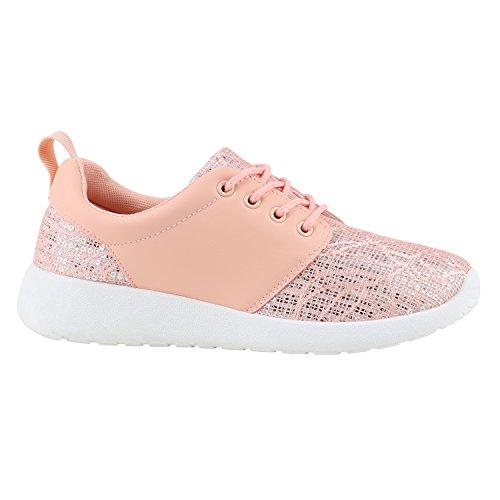 Paradis Bottes Unisexe Femmes Hommes Chaussures De Sport Course Sur Des Tailles Flandell Paillettes Rose