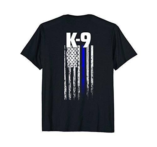 K-9 Police Officer USA Flag T-Shirt LEO Cops Law Enforcement ()