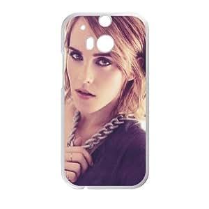 Emma Watson Fashion funda HTC One M8 caja funda del teléfono celular del teléfono celular blanco cubierta de la caja funda EVAXLKNBC22581