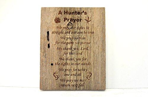 Olga212Patrick Hunters Prayer Plaque wood Sign Sign