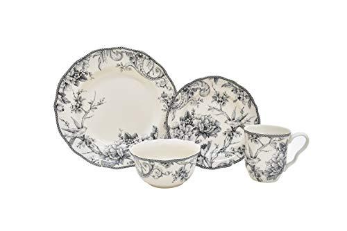 Adelaide Grey 16 Piece Dinnerware Set
