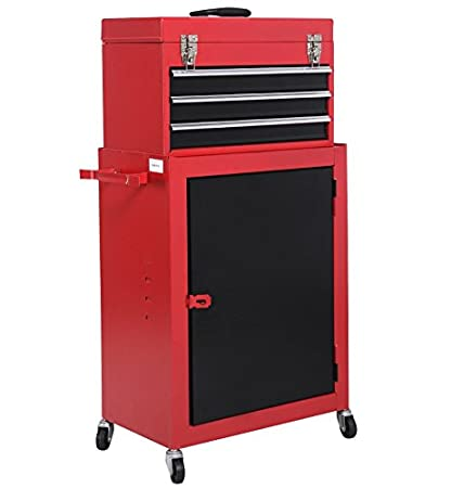 Amazon com: 2PC Mini Tool Chest And Storage Cabinet Roller Tool Box