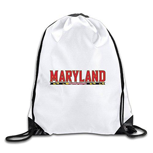 Maryland Terrapins Football Team University Of Maryland Drawstring Shoulder Bag - Backpack Team Maryland Terrapins