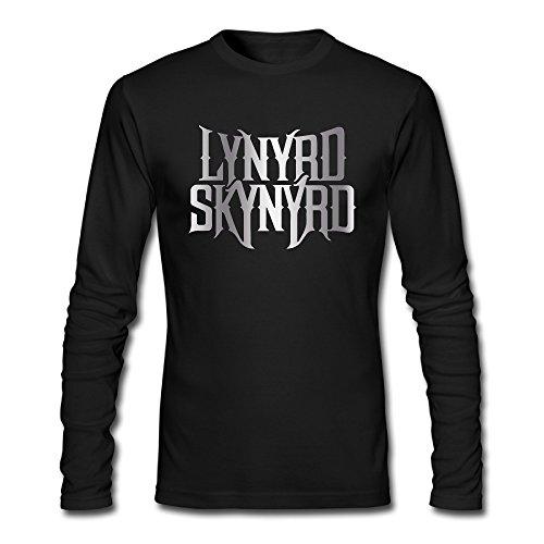 men-lynyrd-skynyrd-rock-band-platinum-logo-t-shirts-black