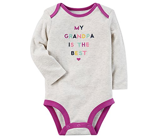 Carter's Baby Girls' Best Grandpa Collectible Bodysuit 3 Months Best Baby Clothes