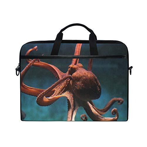 Wild Octopus 14 15inch Laptop Case Laptop Shoulder Bag Notebook Sleeve Handbag Computer Tablet Briefcase Carrying Case Cover with Shoulder Strap Handle for Men Women Travel/Business/School