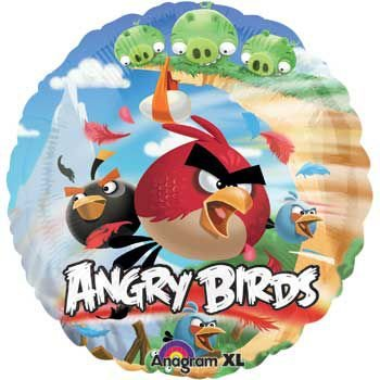 Mayflower Products Round Angry Birds Balloon (Each) - Party Supplies -