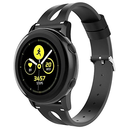Leather Bands Compatible Samsung Galaxy Watch 42mm and Galaxy Active 40mm Band, Women 20mm Replacement Leather Strap for Samsung Galaxy Watch 42mm/Galaxy Watch Active 40mm