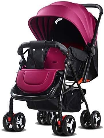 JCXT Strollers Travel System with 5-Point Safety Harness, Large Storage Basket, Suspension Wheels Baby Pushchair Infant Pram