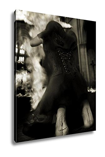 Ashley Canvas Salem Witch Burning Church On Halloween Against Inquisition, Wall Art Home Decor, Ready to Hang, Color, 20x16, AG6085798 by Ashley Canvas