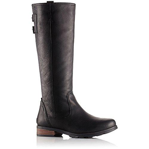 SOREL Women's Emelie Tall Premium Waterproof Boots, Black 7