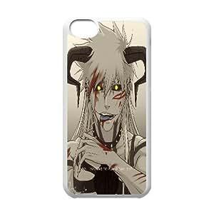 IPhone 5C Case Elegant Golden Eyes Horn, Bleach Iphone 5c Case for Men Cheap [White]