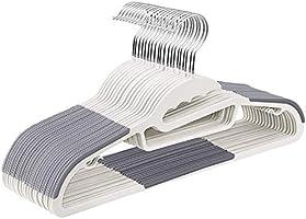 [Amazonブランド] Umi.(ウミ) 衣類ハンガー すべらない 頑丈 薄く、滑り止めプラスチックのハンガー、特殊加工 スリムなマジックハンガー 頑丈 クローゼットハンガー