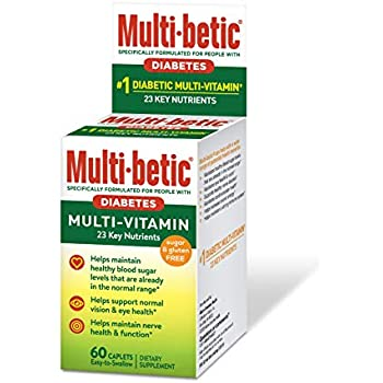 Multi-betic Multi-Vitamin and Mineral Support, Easy-to-Swallow Capsules, 60 Count