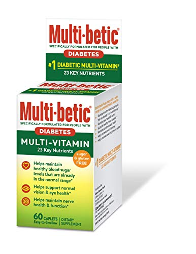 Multi-betic Multivitamin Dietary Supplement, Specifically Formulated for People with Diabetes, 60 Count ()