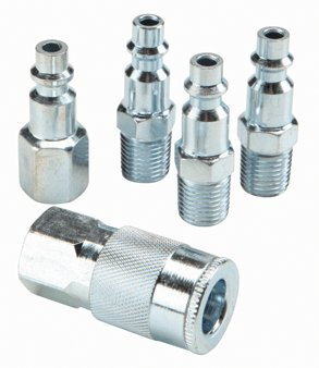 5 Piece Industrial Series Air Tool Quick Coupler and Plug Se