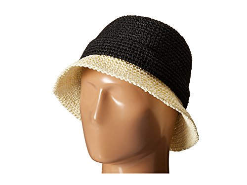 - Kate Spade New York Women's Crochet Packable Cloche Hat, Black/Natural One Size