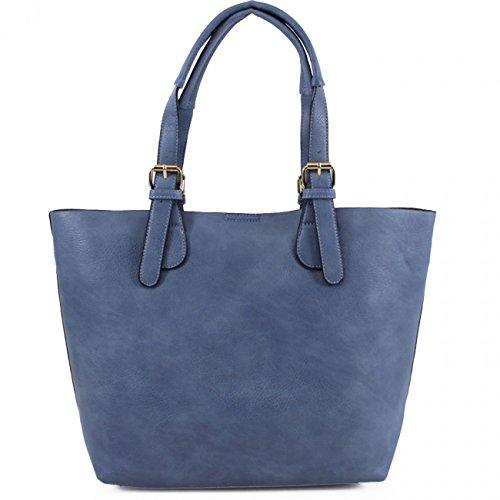 LeahWard® Frauen groß Zwei in einem handtaschen Für die Arbeit Schultertasche CW1016 (Fuchsie) BLAU b1lHV01Z