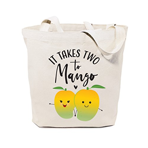 The Cotton & Canvas Co. It Takes Two To Mango Reusable Grocery Bag and Farmers Market Tote Bag