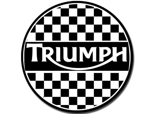 Round Vintage Triumph Checkerboard Sticker Motorcycles Decal Buy Online In Uae Products