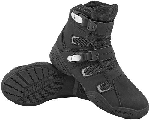 Speed and Strength Urge Overkill Men's Motorcycle Leather Boots (Black, Size 13)