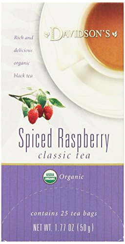 Davidson's Tea Spiced Raspberry, 25-Count Tea Bags (Pack of 6)