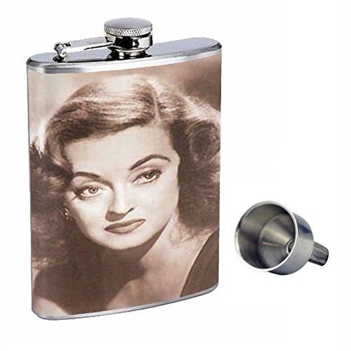 スペシャルオファ Bette DavisヴィンテージPortrait Perfection inスタイル8オンスステンレススチールWhiskey Flask with Free Flask Funnel with d-578 d-578 B015QLLMVI, ホコタマチ:aec55320 --- domaska.lt