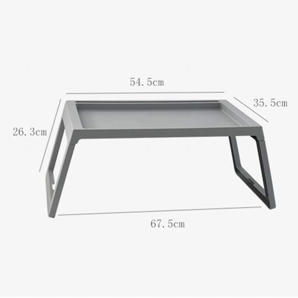 LIULIFE Bed Table Tray - Foldable Breakfast Serving Tray for Kids Eating, Laptop Computer Desk for Sofa, Portable Outdoor Camping Stand with Floding Legs,White-54.535.5cm by LIULIFE (Image #7)