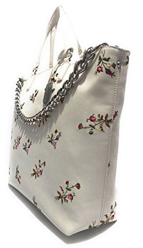 Agne' Bianco Scervino Bs17es12 Mod Donna Ricamo Ermanno Shopping Borsa Fiori YfqX7nv1n