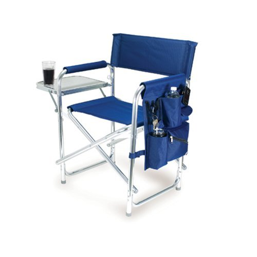 (ONIVA - a Picnic Time brand Portable Folding Sports Chair, Navy)