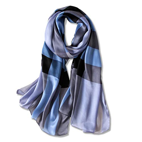 Silk Scarf Long Lightweight Womens Fashion Scarves for any occasion or season By Purple Expressions