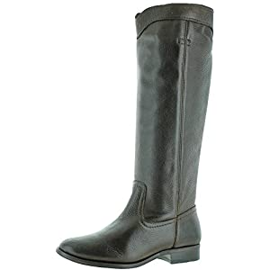 FRYE Women's Cara Roper Mid Calf Boot Round Toe Chocolate 8.5 M