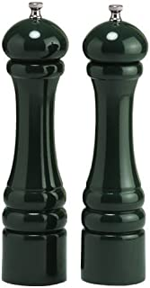 """product image for Chef Specialties 10"""" Imperial Pepper Mill and Salt Mill Set, Forest Green"""
