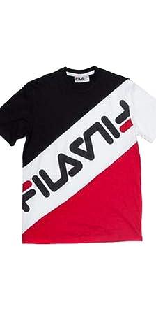Fila Rowan Herren T-Shirt, gestreift - Mehrfarbig - 4X-Groß: Amazon ...