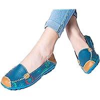 fheaven nuevo barco zapatos piel mujer Loafers–Zapatos Flats de ocio hembra Casual suave, zapatos Flats