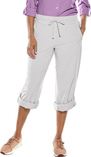 - Coolibar UPF 50+ Women's Canyon Roll Up Pants - Sun Protective (Large- Stone Grey)