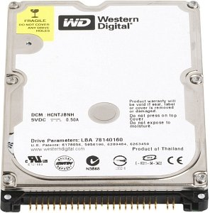 (WD800BEVE Western Digital 80GB 5400RPM ATA 100 2.5 inch HDD)
