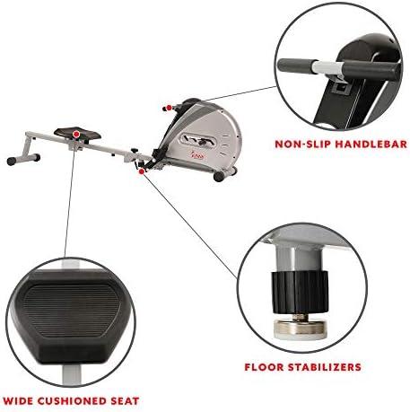 Sunny Health & sf-rw5606Cuerda elástica máquina de Remo de Fitness 6