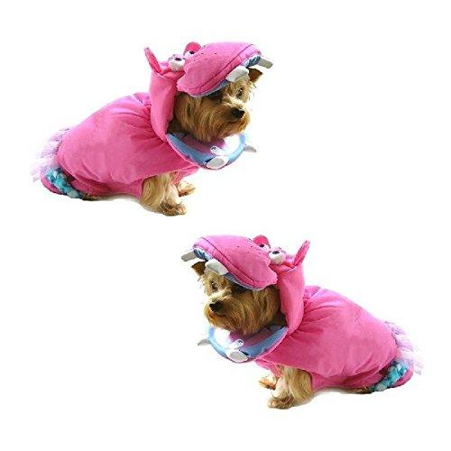 (Dog Costume PINK HIPPOPOTAMUS Dress Dogs as Hippos Wild Zoo Animal(Size 3))