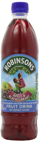Robinson's Fruit Drink, Apple & Blackcurrant, No Added Sugar, 1 Liter Plastic Bottles (Pack of - Robinson Shopping