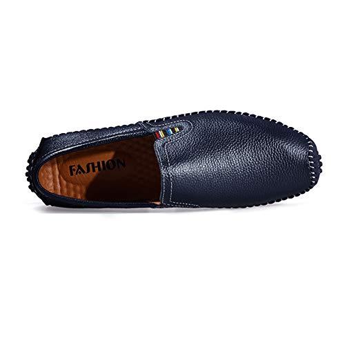 dimensioni marrone Blu Scarpe Scarpe nero Mocassino blu da pelle Scarpe Hcwtx da 5cm donna Mocassino d'affari basse 24 comfort sintetica 0cm gommino da uomo in barca 28 XTq4Xwx7F
