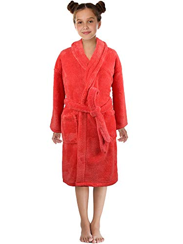 Ultra-Soft Plush Shawl Robes for Boys and Girls (Coral, ()