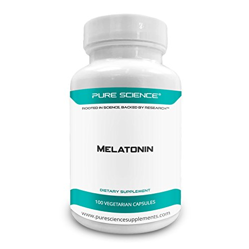 Pure Science Melatonin 10mg - High-Quality Melatonin Supplement as Natural Sleep Aid, Corrects Irregular Sleeping Pattern, Mood Support, Relaxes Muscles - 100 Vegetarian Capsules by Pure Science Supplements