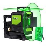 Huepar Nivel Láser Autonivelante Verde Líneas Láser Transversales Horizontales y Verticales Estándar, laser level Incluye Base Giratoria Magnética, Objetivo Láser (902CG)