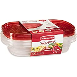 Rubbermaid 7F55RETCHIL 3 Piece Take Alongs Rectangular Containers